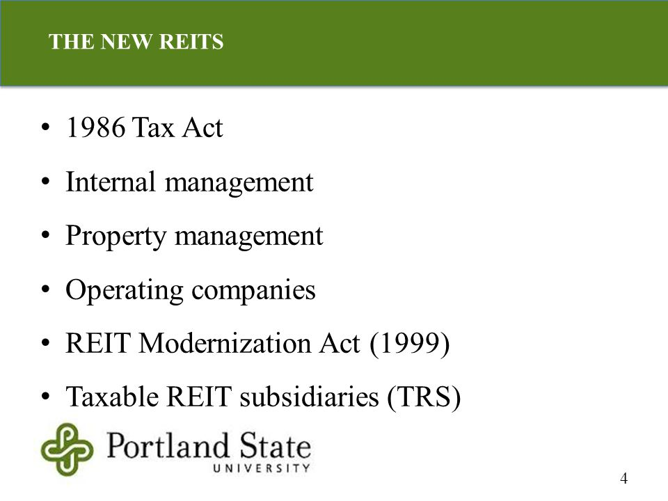 Organizational structure Avoid capital gains tax Operating partnerships (OP) units in REIT DownREIT 5 UPREIT