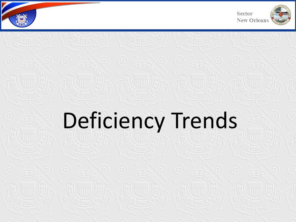 Common Deficiencies - Cont'd Sector New Orleans