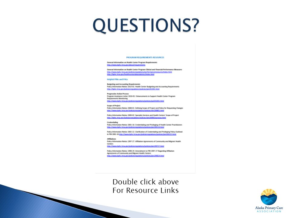 Double click above For Resource Links