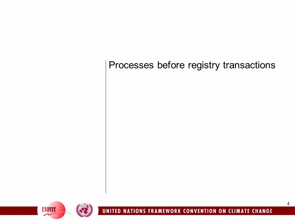 4 Processes before registry transactions