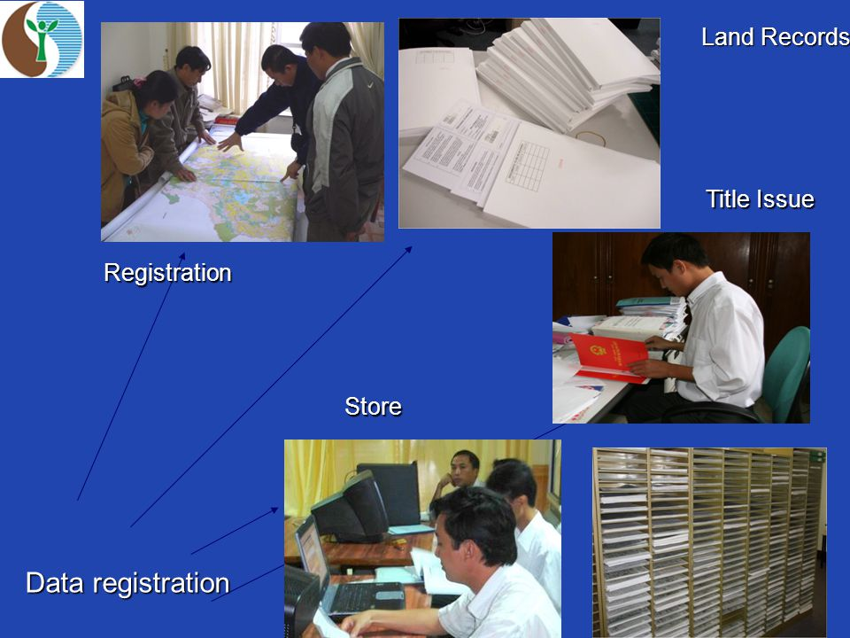 Data registration Registration Land Records Title Issue Store