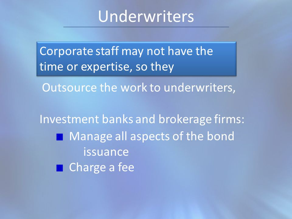 Bond is a formal legal document Bond Indenture has a variety of features needs proper wording, fine print and disclosures