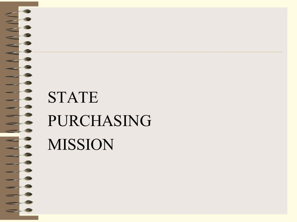 STATE PURCHASING MISSION