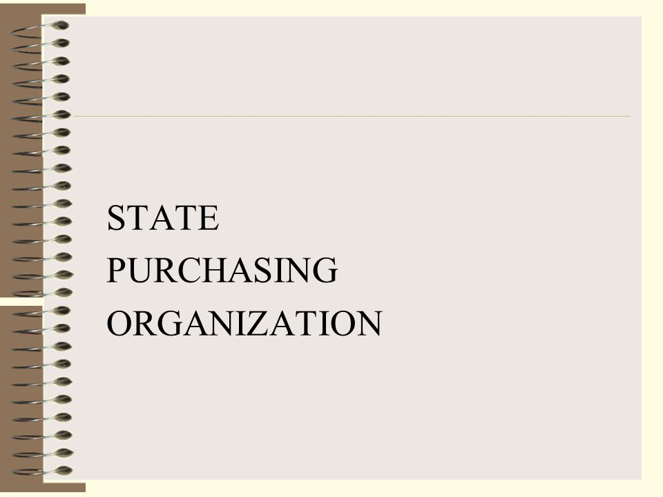 DELIVERING… (1) Purchasing statutes, rules and policies that support economical, efficient and effective purchasing on behalf of the State and its subdivisions.