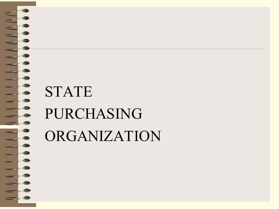 STATE PURCHASING ORGANIZATION