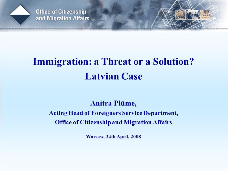Immigration: a Threat or a Solution.