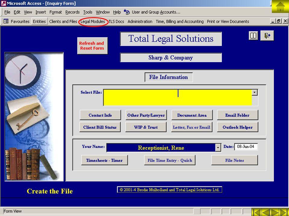 Create the File
