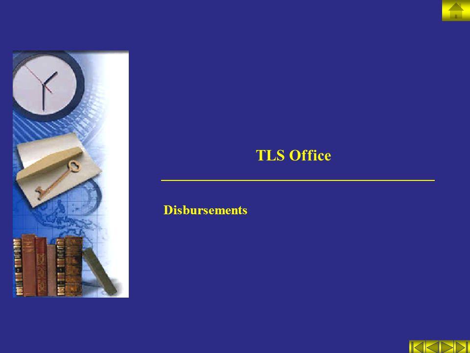 TLS Office Disbursements