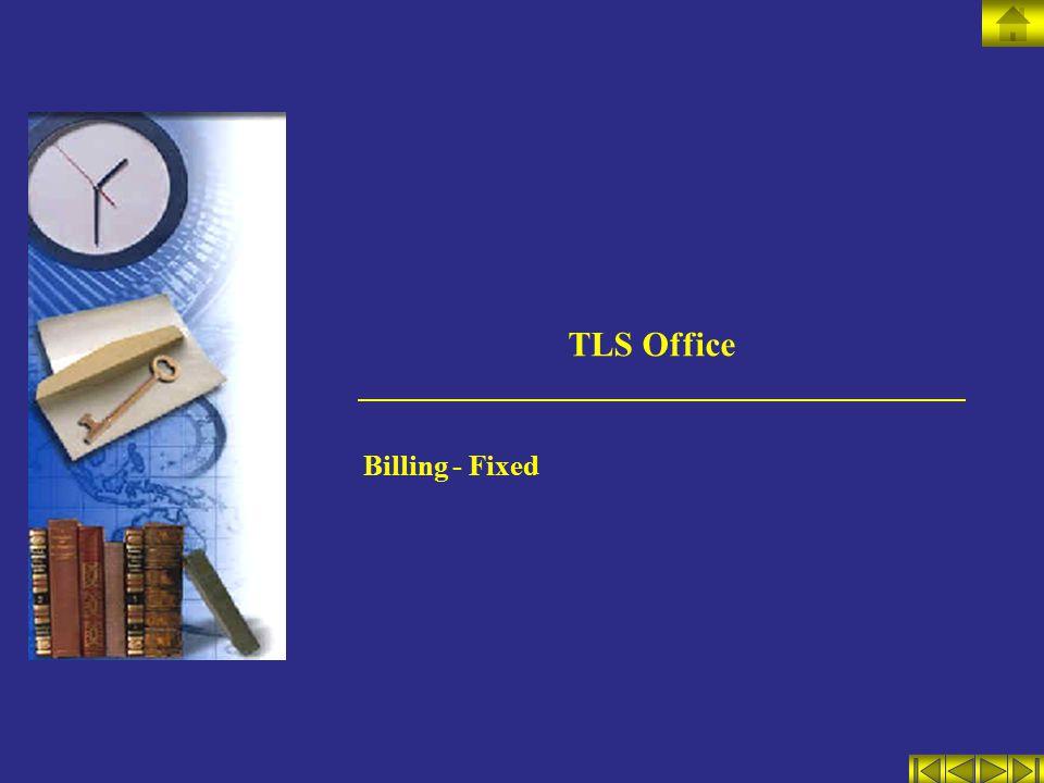 TLS Office Billing - Fixed