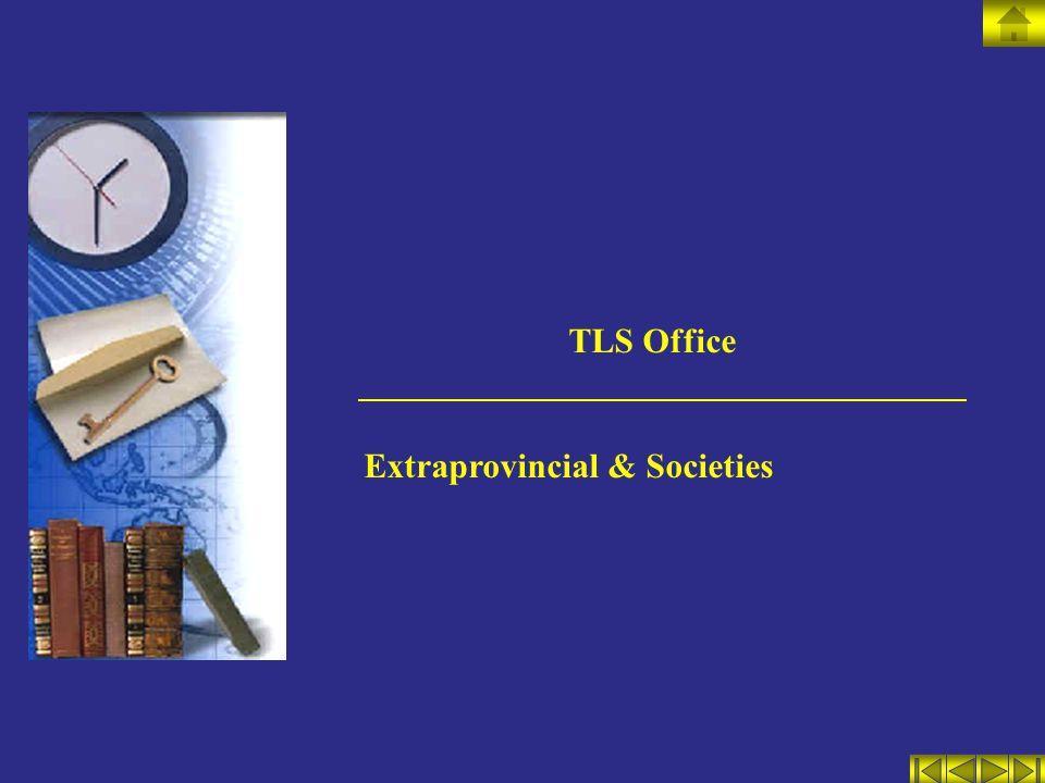 TLS Office Extraprovincial & Societies