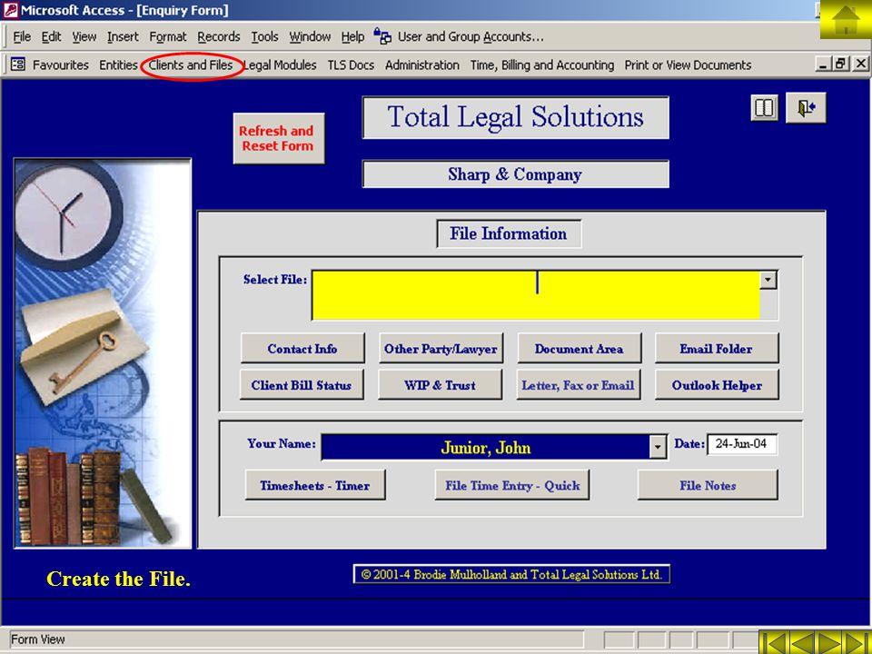 Create the File.