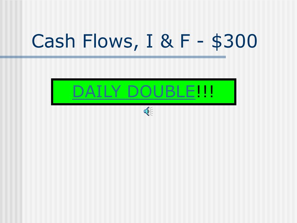 Cash Flows, I & F - $200 How proceeds from the sale of equipment are reported on the SCF.