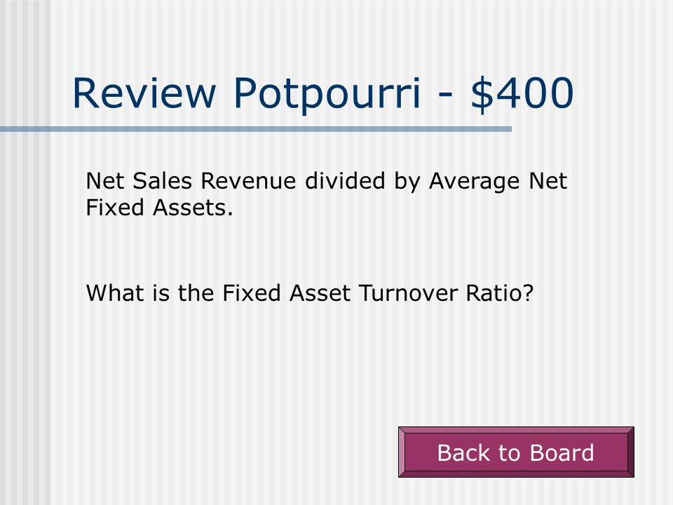 Review Potpourri - $300 Back to Board The accounts affected when $10,000 of amortization is recorded against a company's patent.