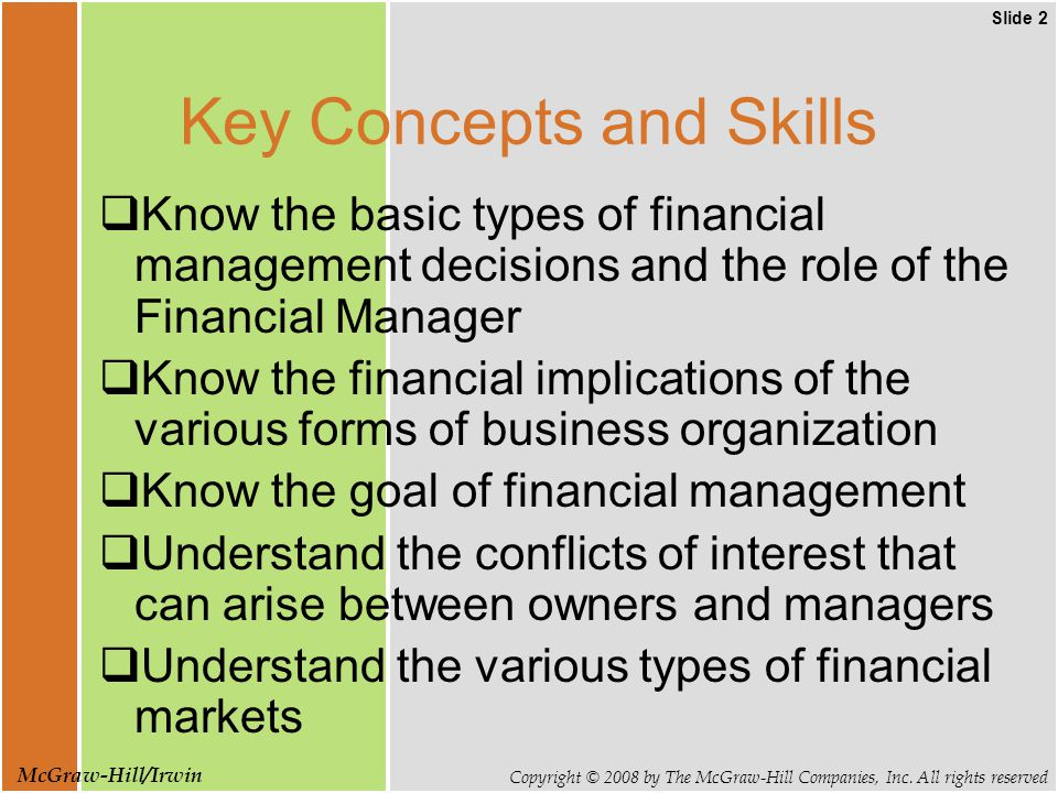Slide 3 Copyright © 2008 by The McGraw-Hill Companies, Inc.