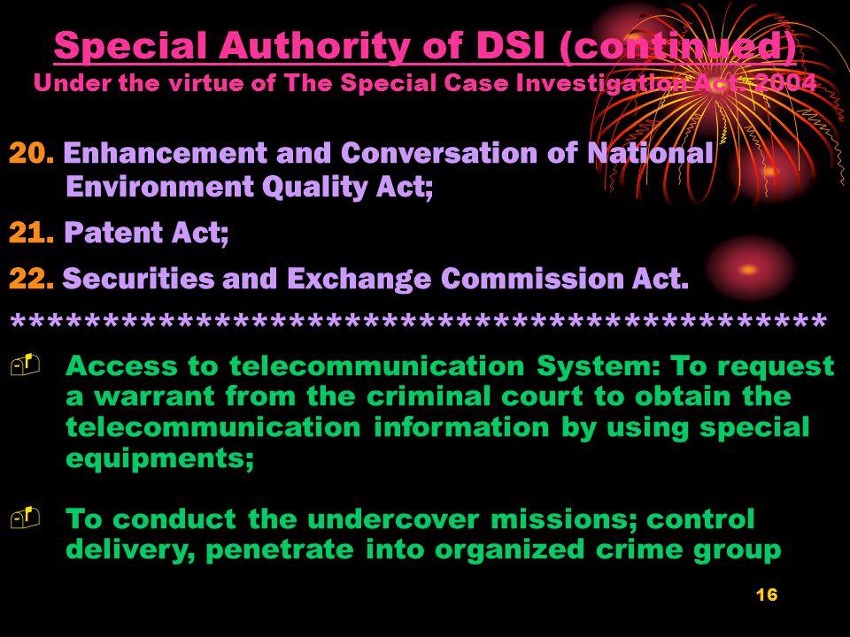 15 9. Consumer Protection Act; 10. Trademark Act; 11.