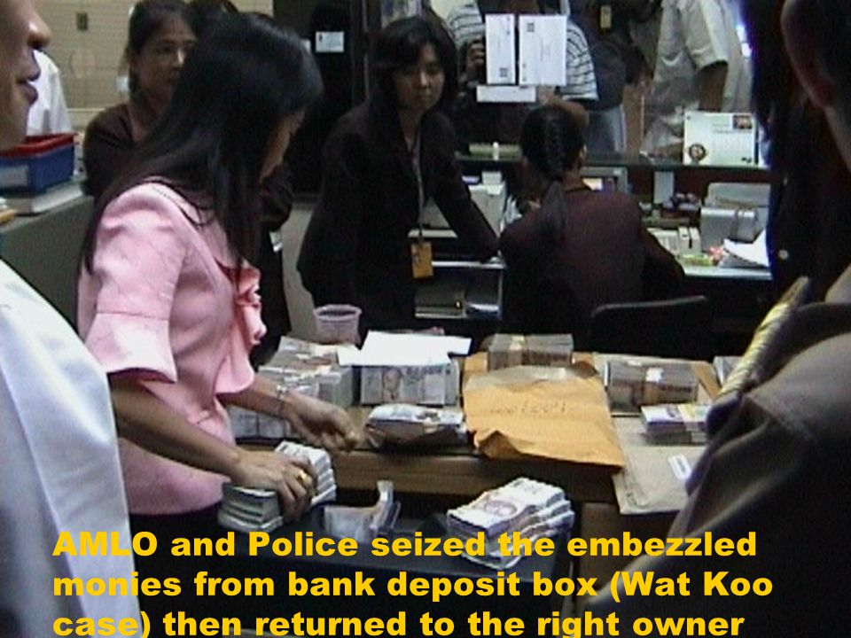 22 Malfeasance in Office : A former Abbot of a temple embezzled donated money 8-9 million Baht for personal gain. (Wat Koo case)