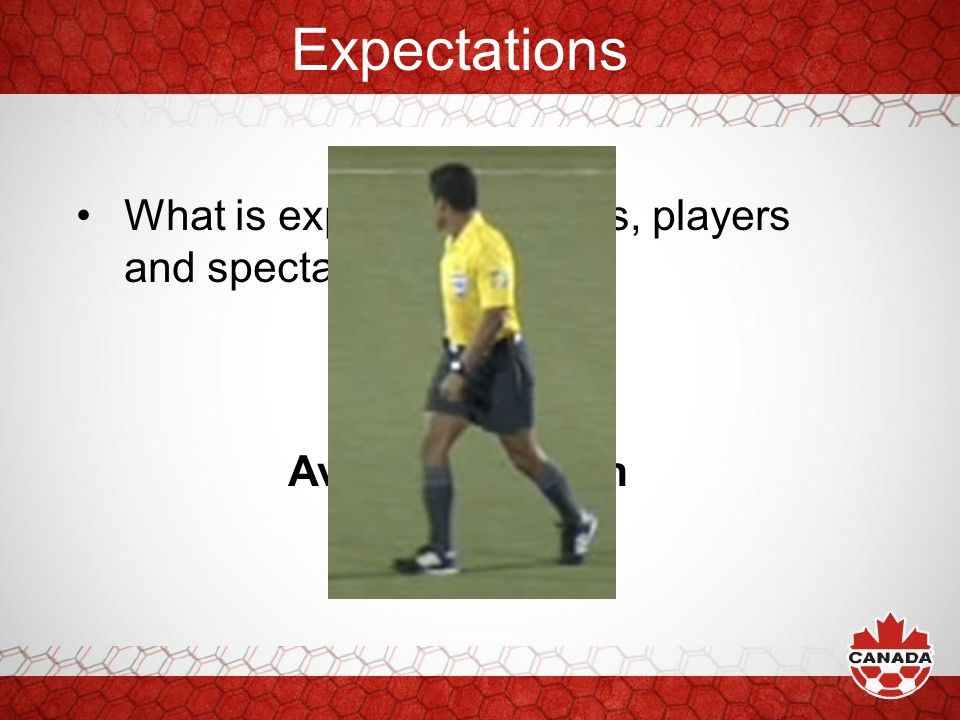 Expectations What is expected by Clubs, players and spectators? Team Work Consistency Avoid Confusion