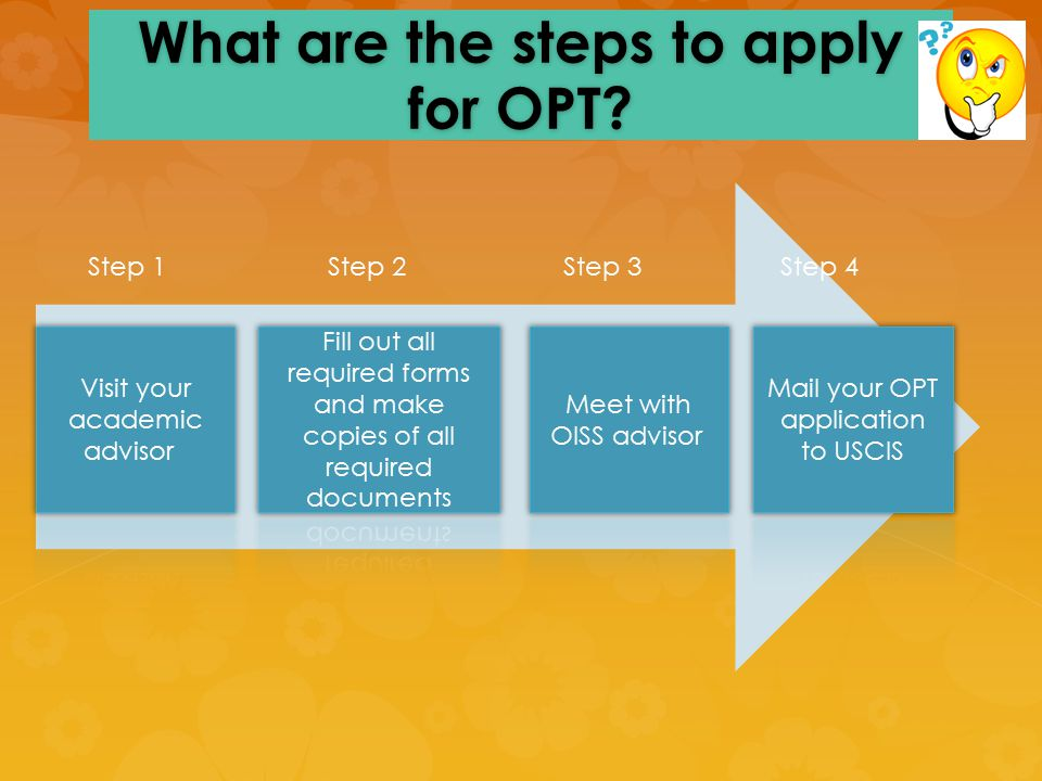Review what you've learned!  OPT employment is for 12 months.  OPT employment must be related to your field of study.  Apply 90 days prior and 60 d