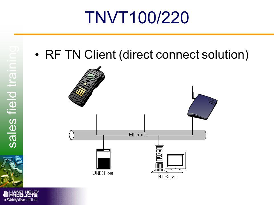 sales field training TNVT100/220 RF TN Client (direct connect solution)