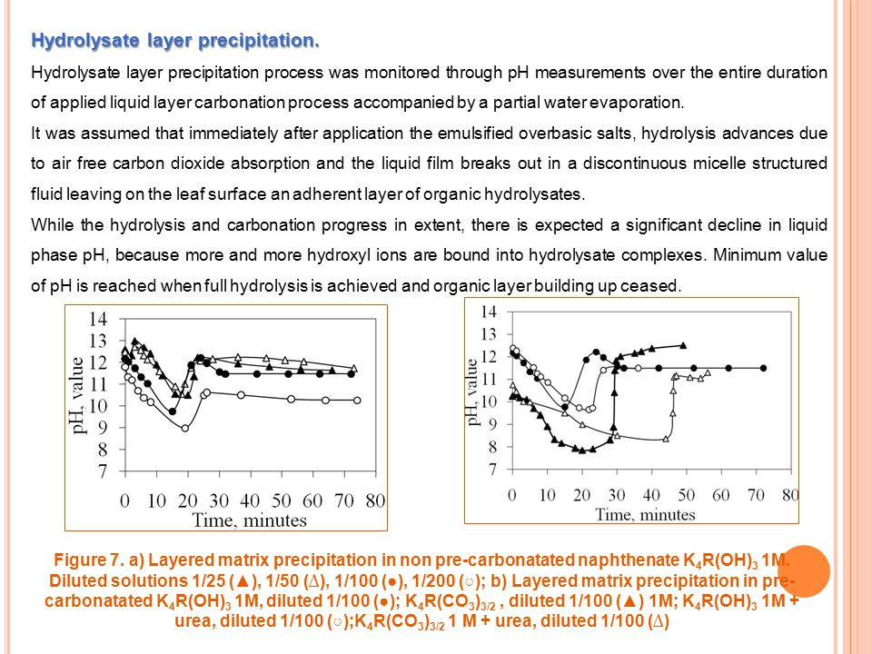 Hydrolysate layer precipitation.