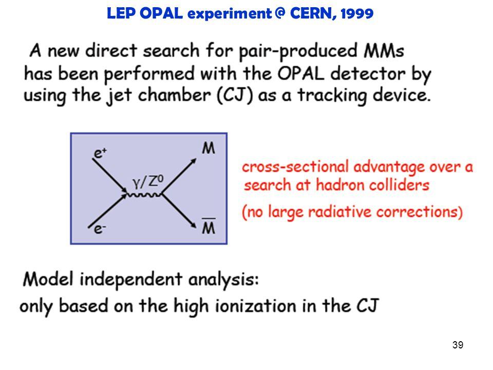 39 LEP OPAL experiment @ CERN, 1999