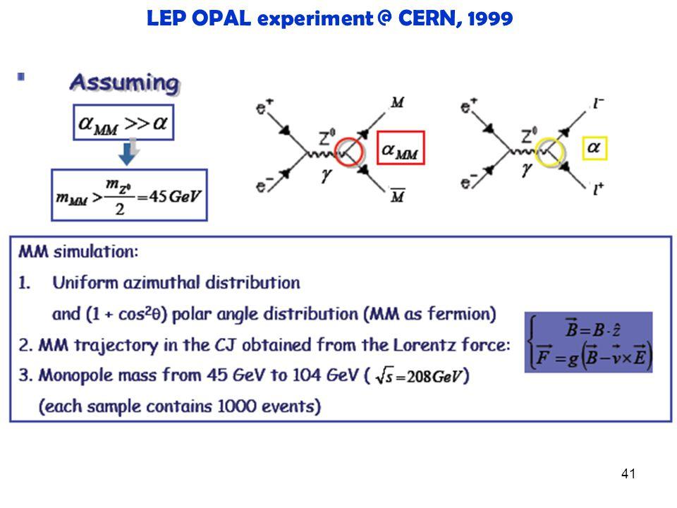 41 LEP OPAL experiment @ CERN, 1999