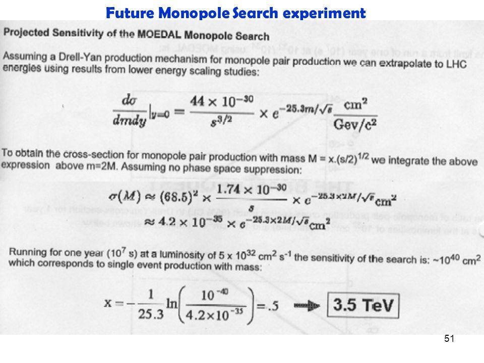 51 Future Monopole Search experiment