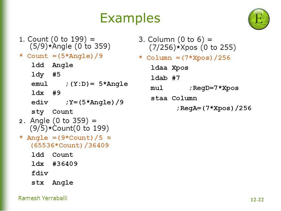 12-22 Ramesh Yerraballi Examples 1.