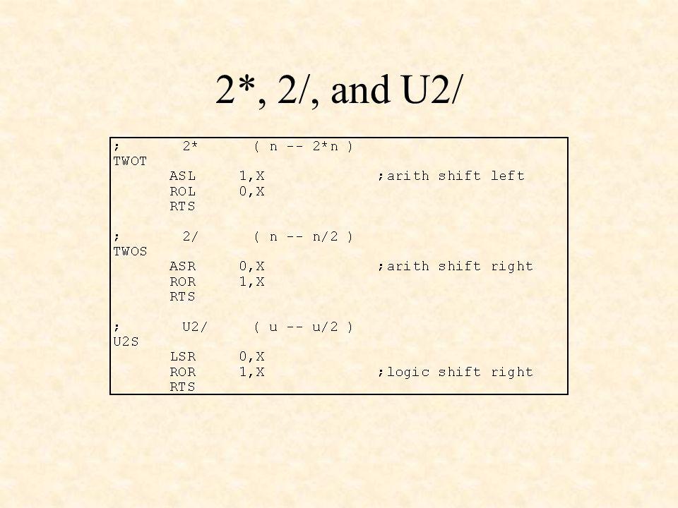 2*, 2/, and U2/