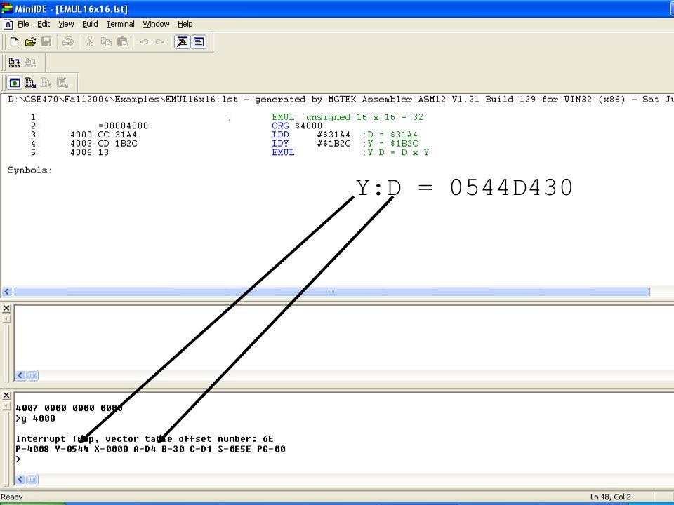 Y:D = 0544D430