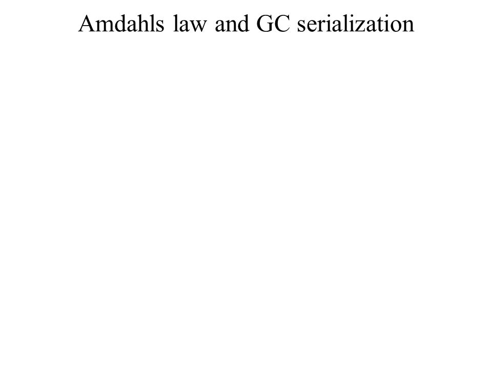 Amdahls law and GC serialization