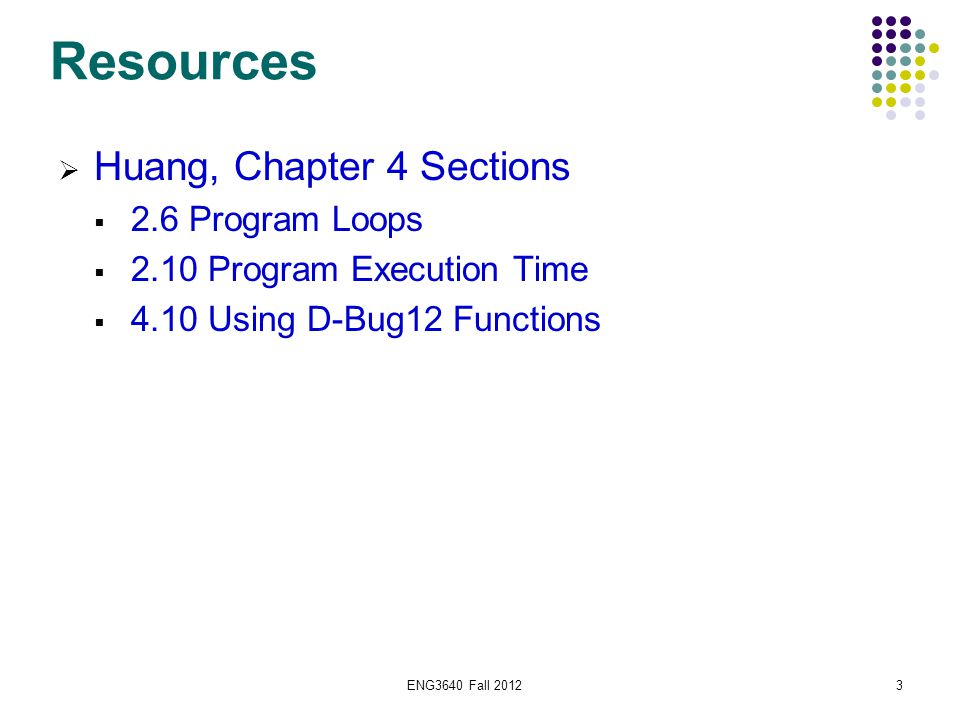 ENG3640 Fall 201254 Subroutines  The CPU12 has several instructions to implement subroutines.