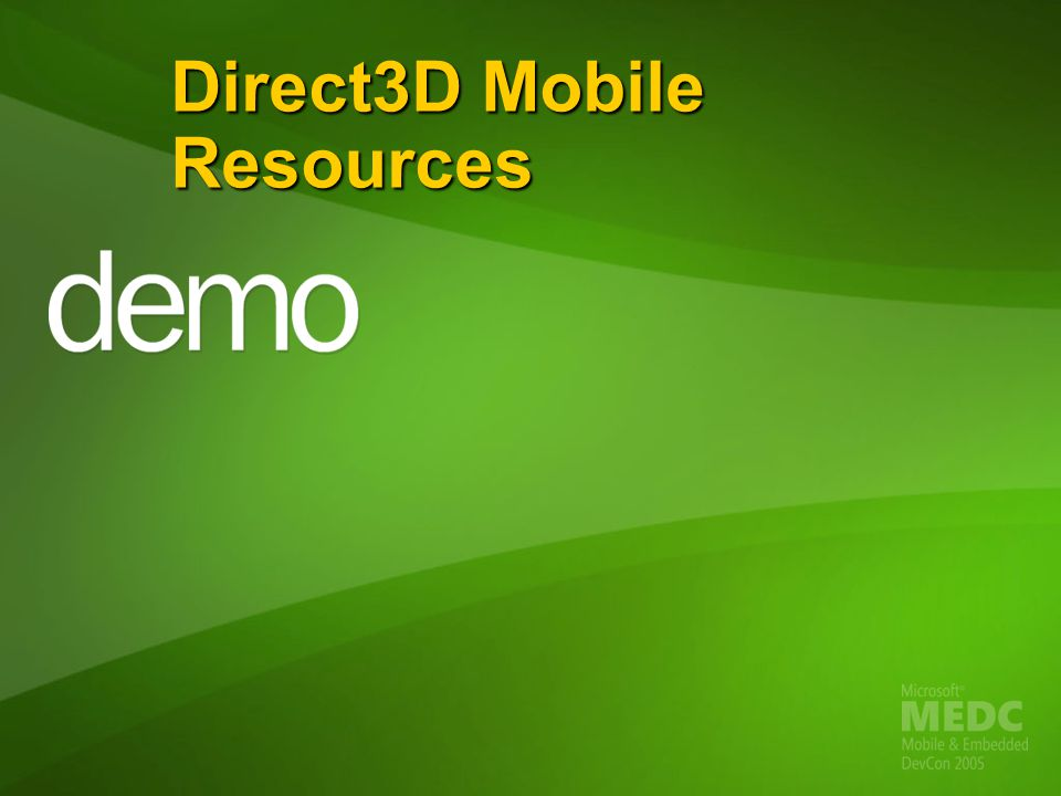 Direct3D Mobile Resources