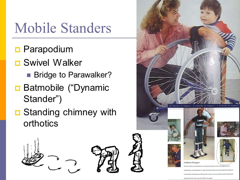 Mobile Standers  Parapodium  Swivel Walker Bridge to Parawalker.