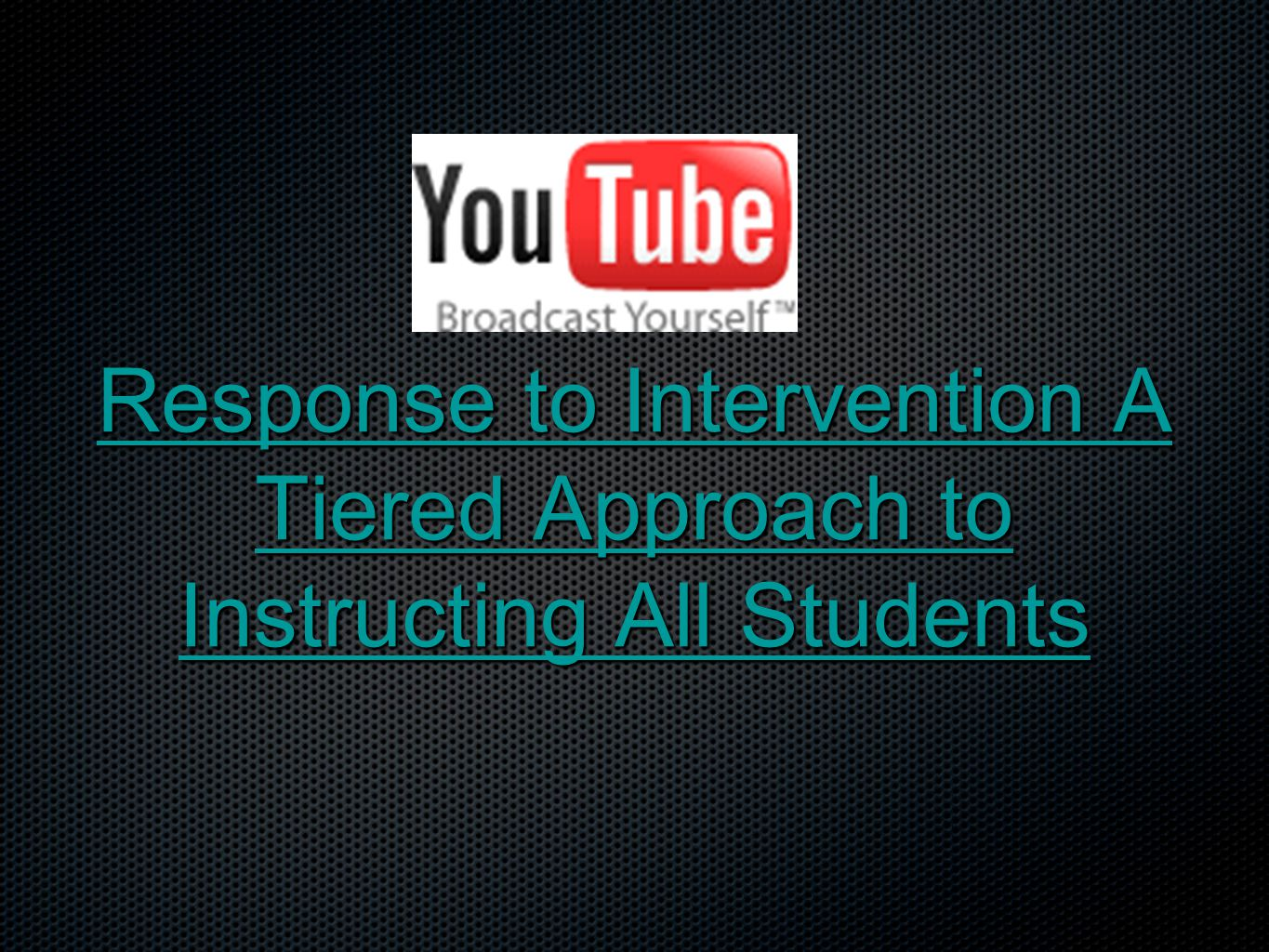 RTI Guiding Principles All students are part of ONE proactive educational system All students are part of ONE proactive educational system Use scientific, research-based instruction and interventions Use scientific, research-based instruction and interventions Data are used to guide instructional decisions Data are used to guide instructional decisions Use instructionally relevant assessments that are reliable and valid Use instructionally relevant assessments that are reliable and valid (Screening, Diagnostic, Progress Monitoring)
