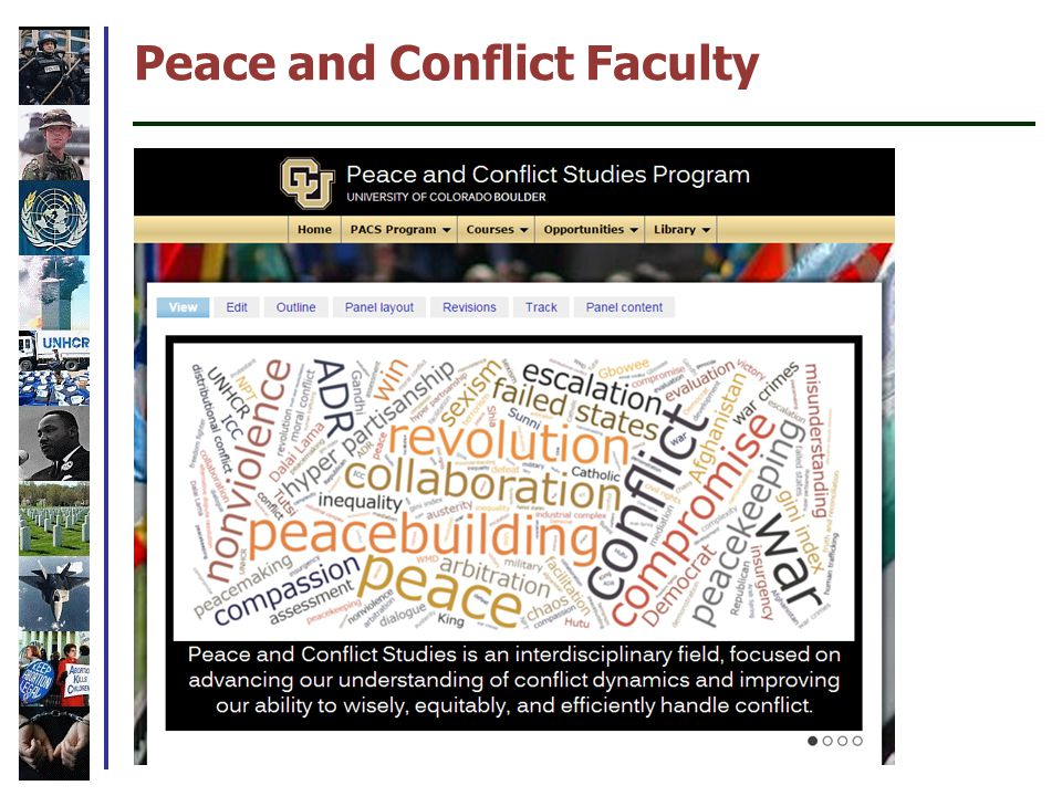 Peace and Conflict Faculty