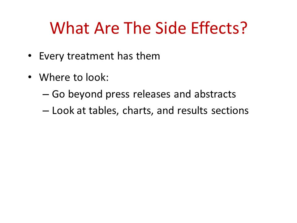 What Are The Side Effects.