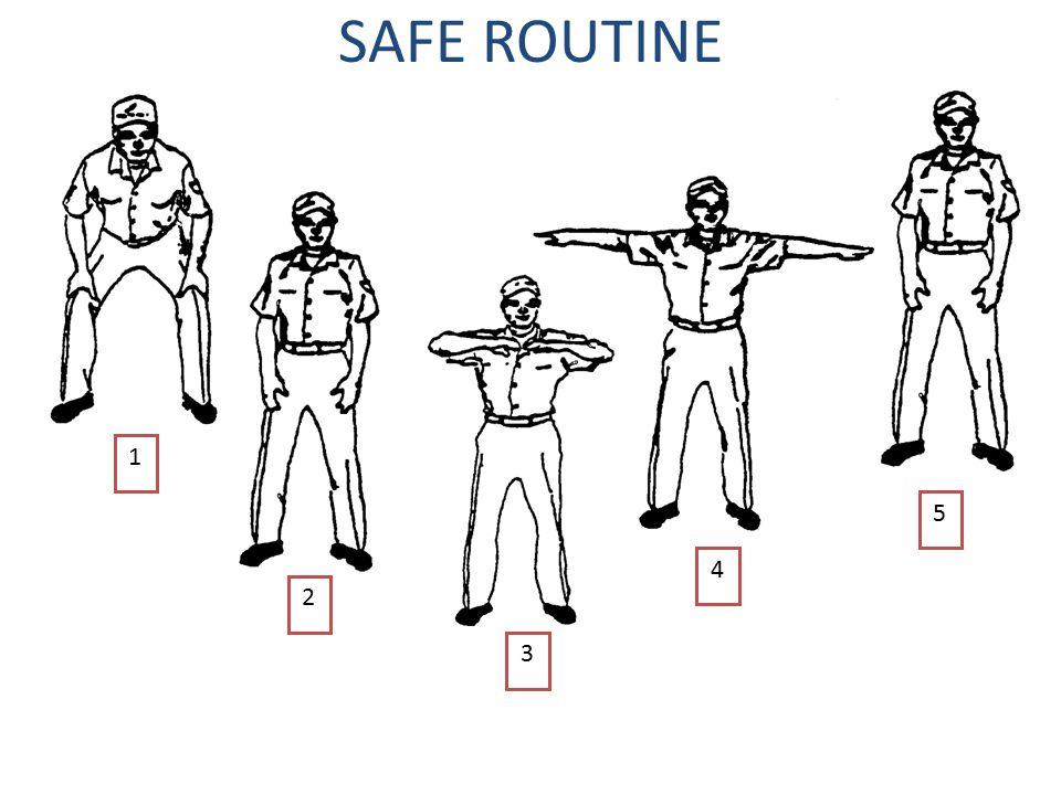 SAFE ROUTINE 5 4 3 2 1