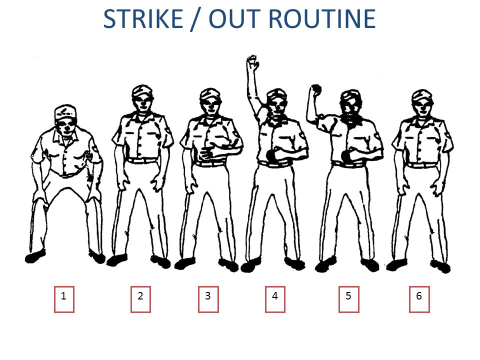 STRIKE / OUT ROUTINE 564321
