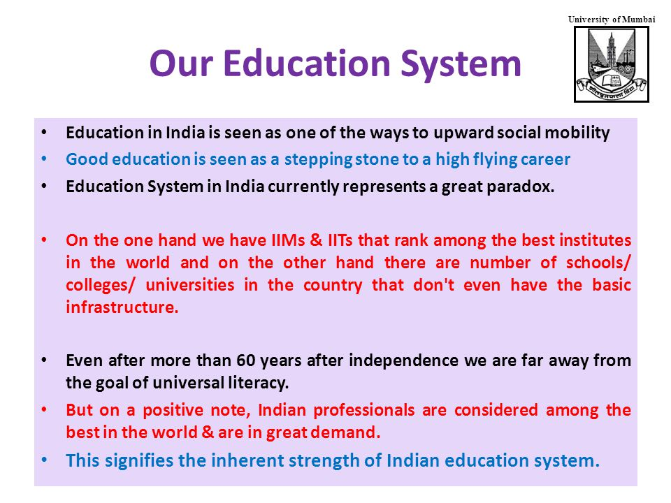 University of Mumbai DST: Institutional Support Fund for Improvement of S&T Infrastructure in Higher Educational Institutions (FIST) Support at 3 levels (5 years each) Level 0: Colleges with relatively active teaching.
