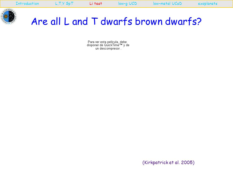 Are all L and T dwarfs brown dwarfs. (Kirkpatrick et al.