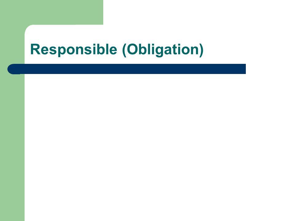 Responsible (Obligation)