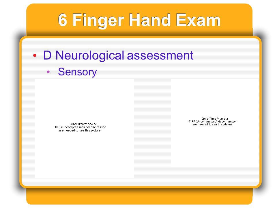 6 Finger Hand Exam D Neurological assessment Sensory