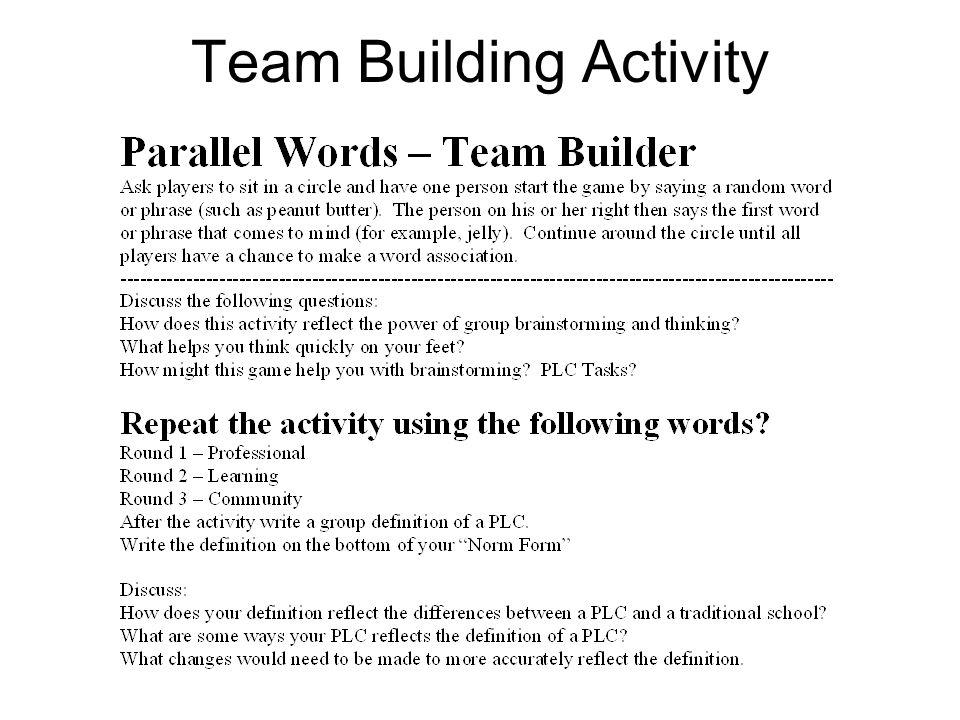 Team Building Activity
