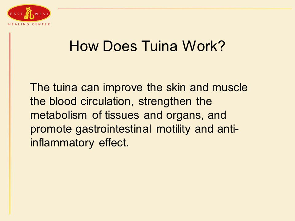 How Does Tuina Work.