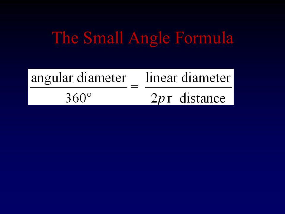 The Small Angle Formula