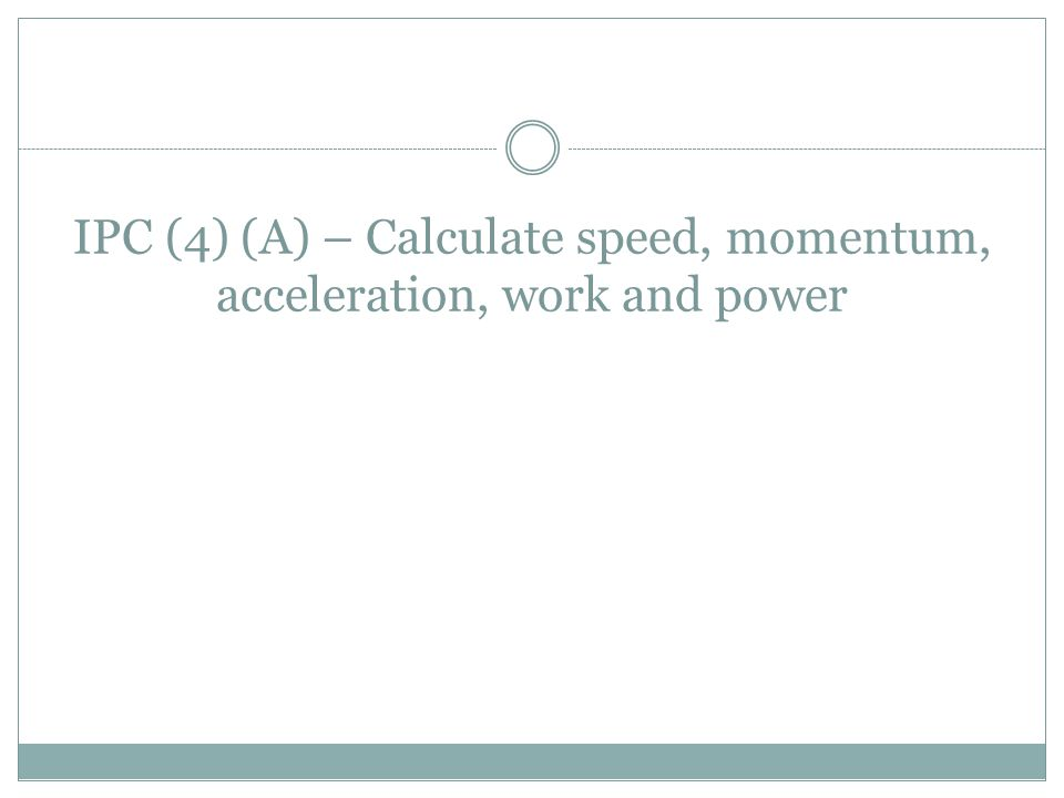 One way to describe the motion of an object is by its speed.