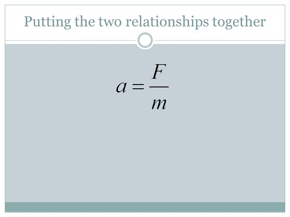 Putting the two relationships together