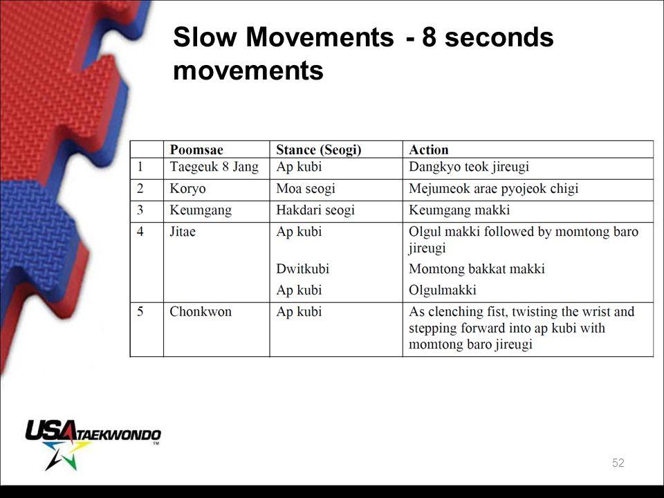Slow Movements - 8 seconds movements 52