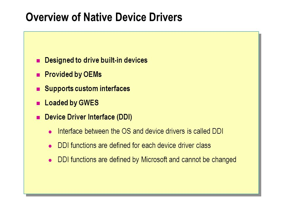Drivers and Pointer data OS manages pointers passed directly as parameters Driver must map All pointers contained in structs DeviceIOControl buffers often are structs that contain data, some of which may be pointers.